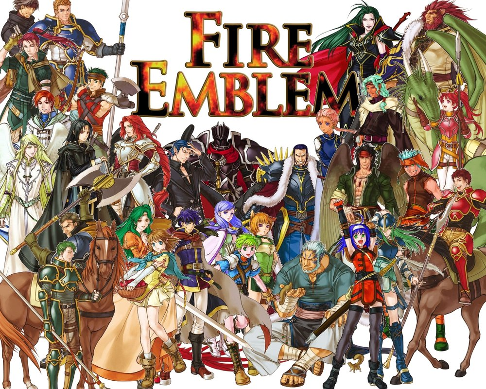 All the playable characters from Fire Emblem: Path of Radiance