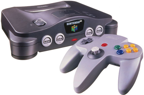 N64 console and controller photo
