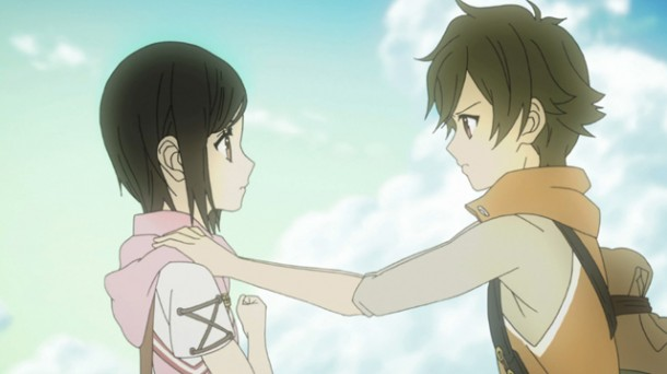 Shin Sekai Yori - Saki and Satoru are finally free.