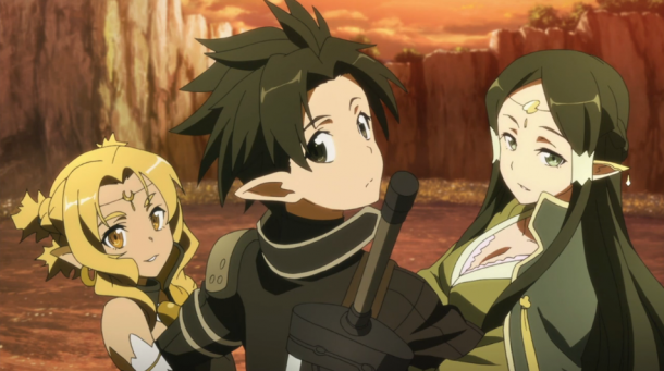 Image result for kirito with alicia and