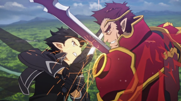 Sword Art Online Kirito and Eugene Battle 2