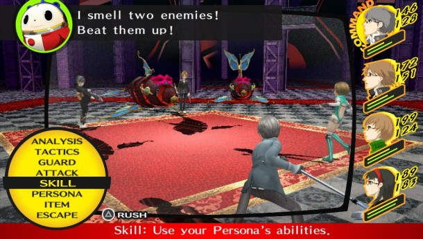 Persona 4 Golden Battle Screen
