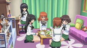 Girls und Panzer Mako, Hana, Saori, Miho, and Yukari