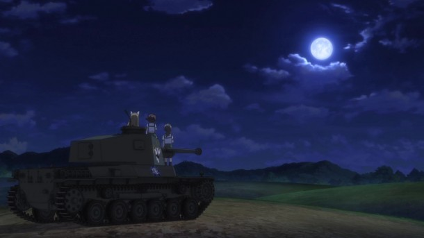 Girls und Panzer Nekonya, Momoga, and Piyotan