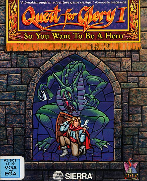 Quest for Glory VGA Box Art, designed by Terry Robinson