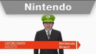 Iwata in a Luigi Hat!