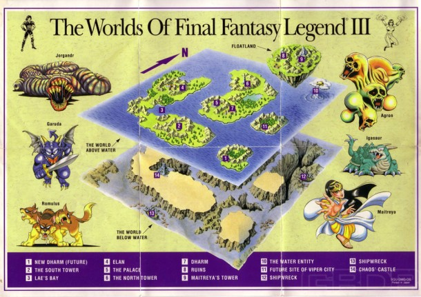 Final Fantasy Legend III map