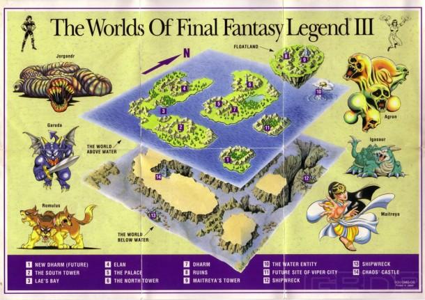 Final Fantasy Legend III map