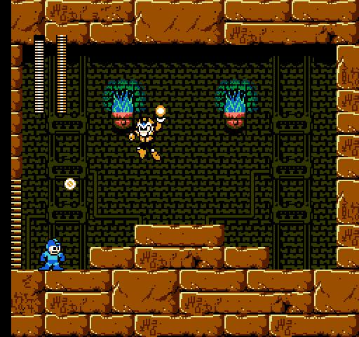 Mega Man 4 Review (NES) Mega-Man-4-Pharaoh-Man-Fighting-Mega-Man-512-x-480