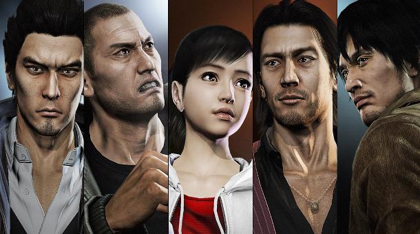 Yakuza 5 characters