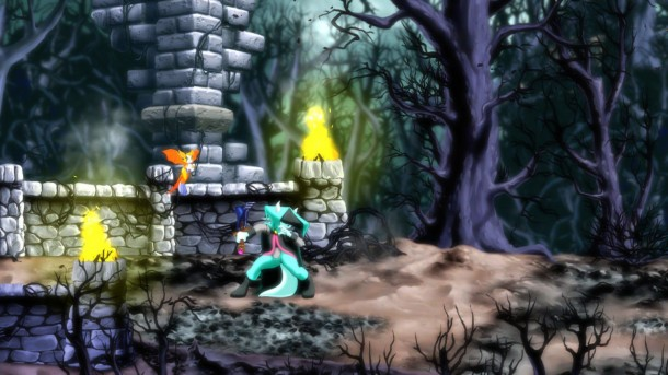 Dust: An Elysian Tail dark forest
