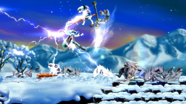 Dust: An Elysian Tail snow fight