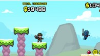 Merry gold gatherers + Mutant Mudds graphics = AMAZING!