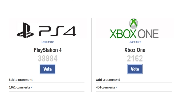 Amazon Video Games poll—PS4 vs. Xbox One