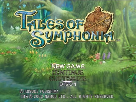 Tales of Symphonia Title Screen