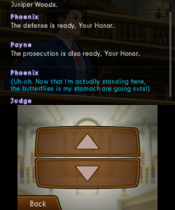 Phoenix Wright: Ace Attorney - Dual Destinies | Reviewing a conversation