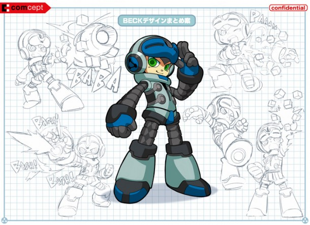 Mighty No. 9: Beck Concept Art