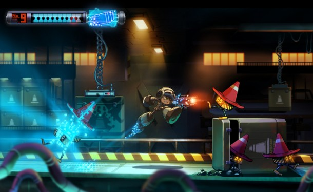 Mighty No. 9: Level Concept Art 001