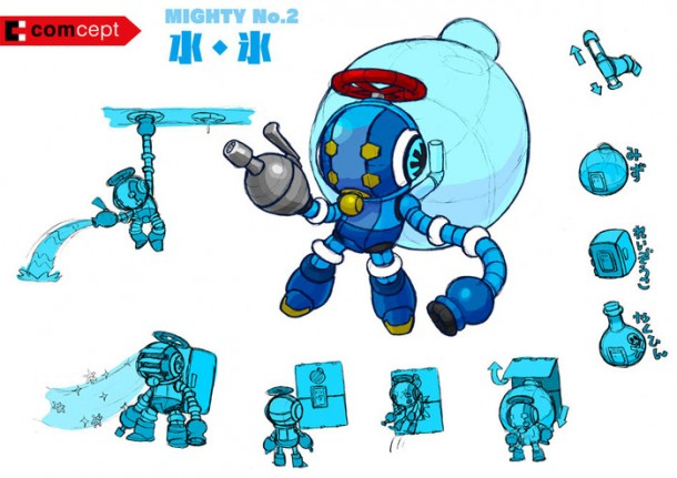 Mighty No. 9: Boss Robot Concept Art 001