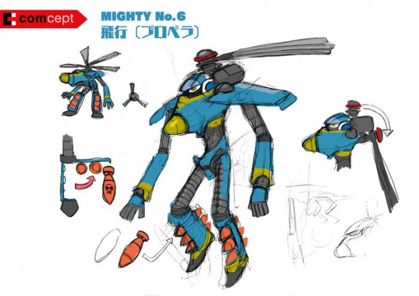 Mighty No. 9: Boss Robot Concept Art 002