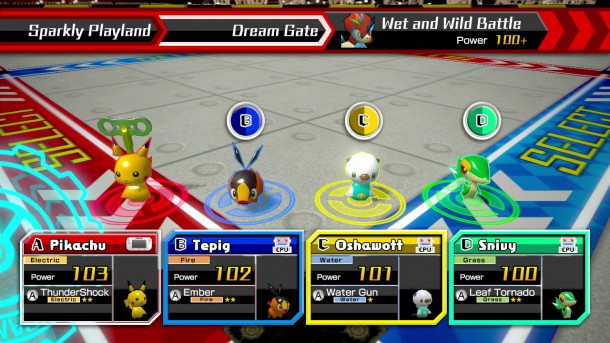 Pokémon Rumble U | Character Select Screen