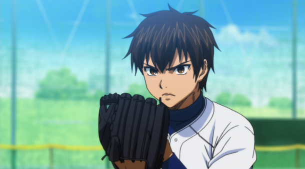 Ace of the Diamond Eijun pitching