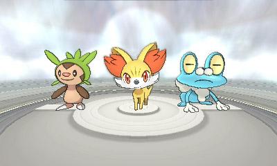 Pokémon X   Starters