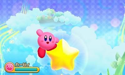 Kirby triple deluxe kirby on a star jpg