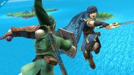 Featuring a match between the blades of Link and Marth.