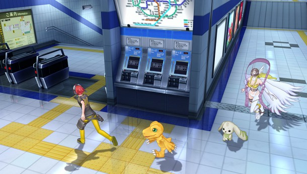 A screenshot from the PS Vita game Digimon Story Cyber Sleuth