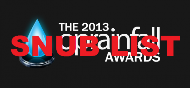 2013 oprainfall Awards: Snub List