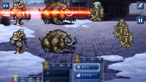 Final Fantasy VI for iPhone (Japanese) | Narshe Battle