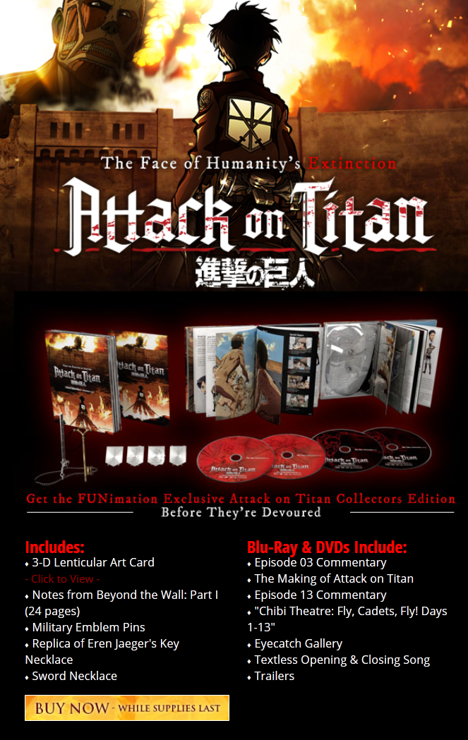 Attack on Titan Part 2 Standard Edition Blu ray DVD