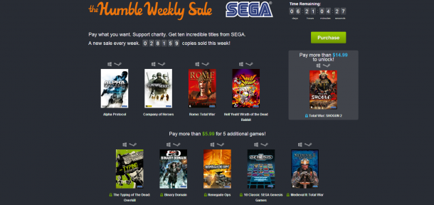Humble Bundle Weekly Sale - SEGA