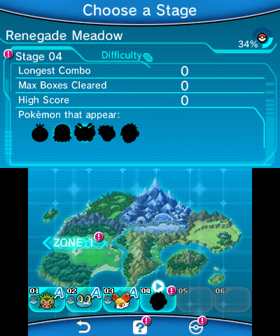 Pokémon Battle Trozei | World Map