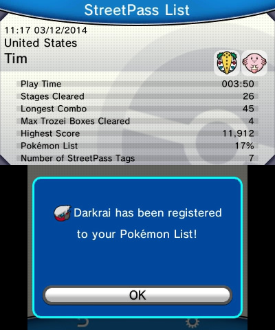 Pokémon Battle Trozei | StreetPass