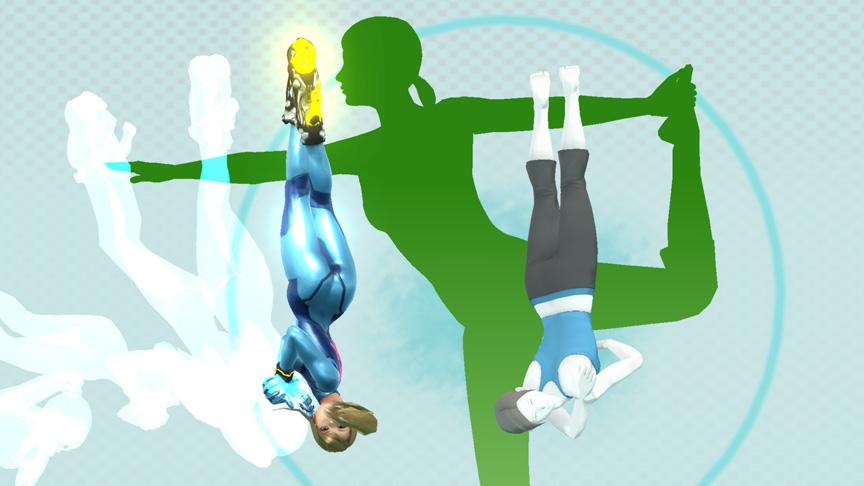 Zero Suit Samus vs. Wii Fit Trainer at Wii Fit Studio