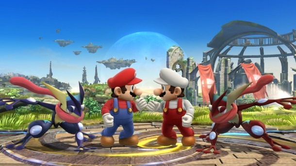 Smashing Saturdays: Color Swap Mario and Greninja - Super Smash Bros | oprainfall
