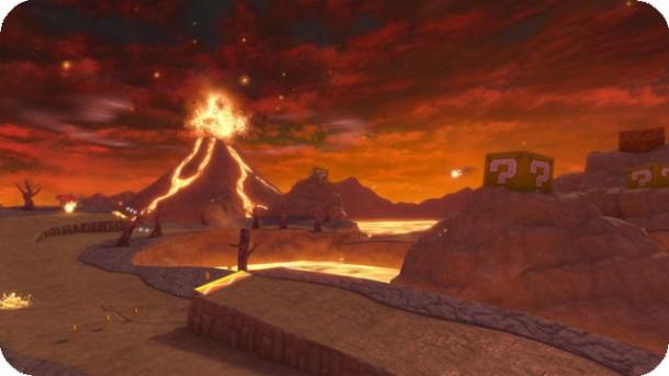 Mario Kart 8 - Grumble Volcano (Wii) | oprainfall