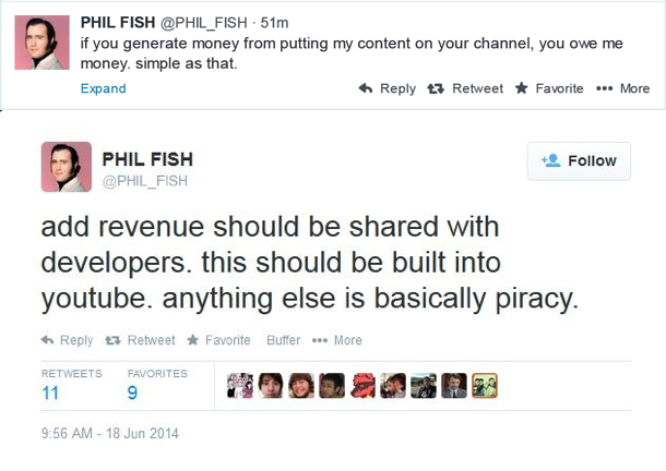 Phil Fish about Let's Players | oprainfall