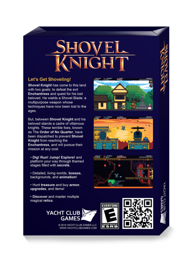 Shovel Knight Box Art - Back