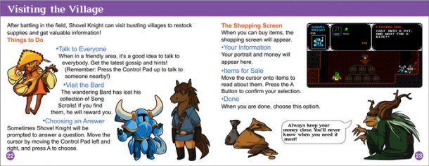 Shovel Knight Manual - The Village