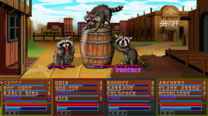 Boot Hill Heroes | Raccoons on a Barrel