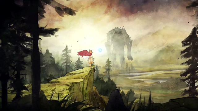 Child of Light | Forest with Giant in Background