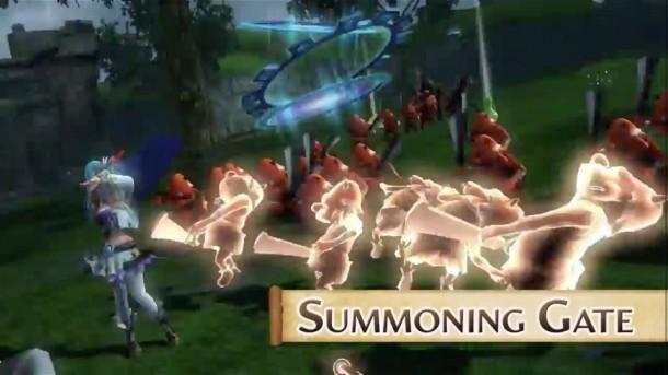 Hyrule Warriors - Lana Using Summoning Gate