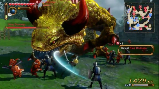 Hyrule Warriors - Link vs. Dodongo