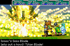 Golden Sun | Isaac's blade lets out a howl!